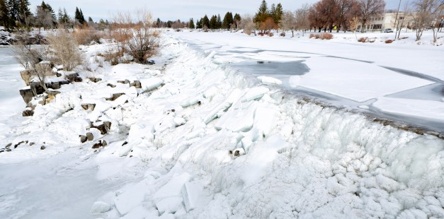 Photo of Ice on the Snake River in Idaho Falls