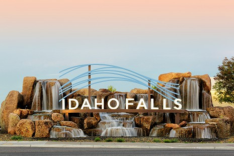 Aerial photo of Idaho Falls