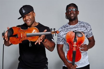 Photo of Black Violin musicians